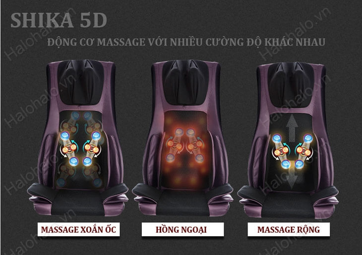 Chế độ massage thay đổi liên tục
