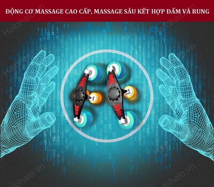 Động cơ massage tác động sâu vào cơ và khớp