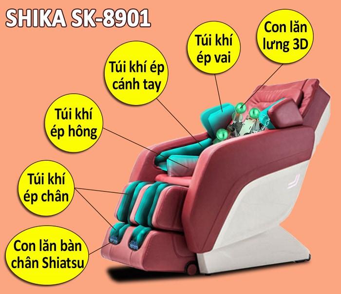 ghế massage 3d shika sk8901