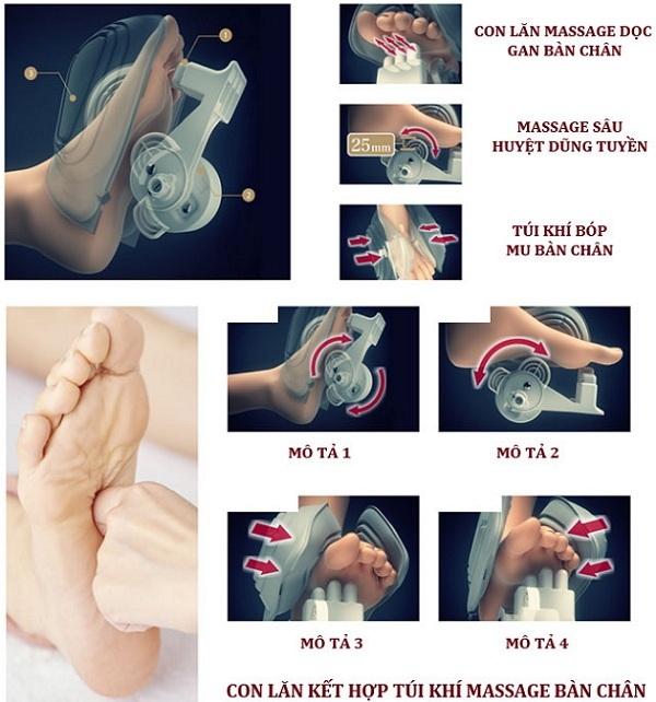 Ghế Massage 3D Shika SK-8916 mát xa chân
