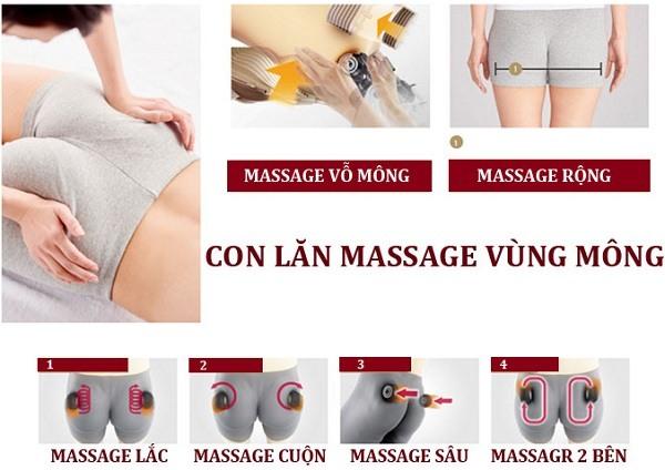 Ghế Massage 3D Shika SK-8916 mát xa mông đùi