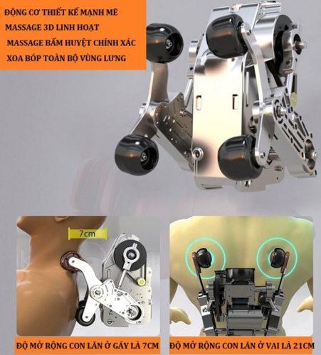 ghế massage sHIKA-SK-8902 phần động cơ