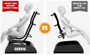 Ghế massage Shika SK-8916 con lăn lshape kéo dài