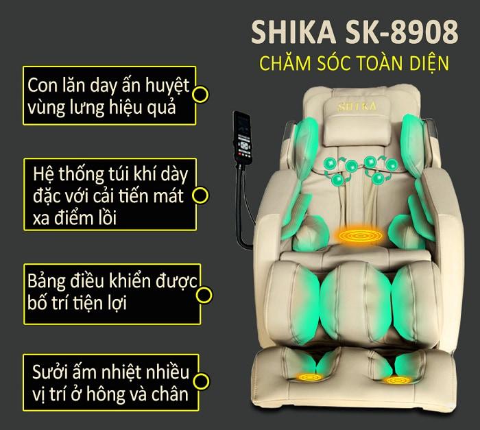 ghế massage toàn thân shika sk8908