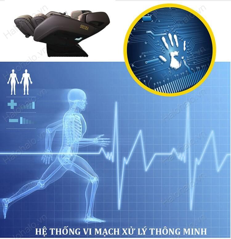 vi mạch ghế massage shika 8918