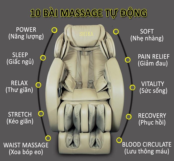 ghế massage 3d shika sk8926