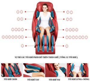 Ghế massage toàn thân Shika SK-8928 với 32 túi khí
