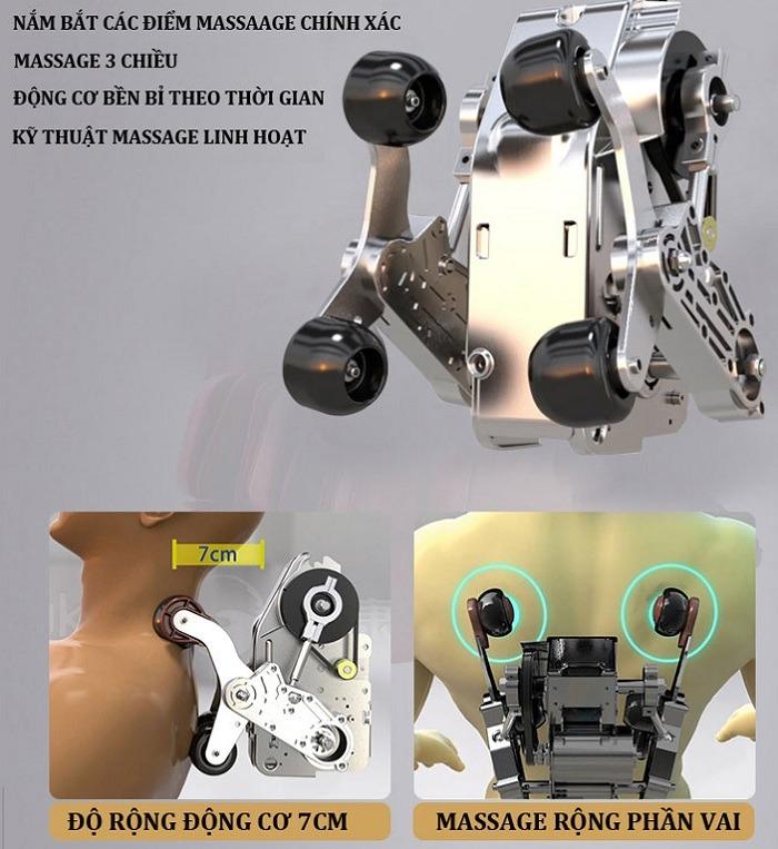 Ghế massage Shika SK-8928 động cơ mạnh mẽ tức thì