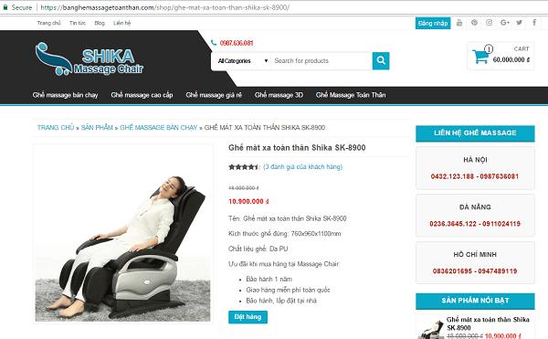 Địa chỉ mua ghế massage Nhật giá rẻ tốt