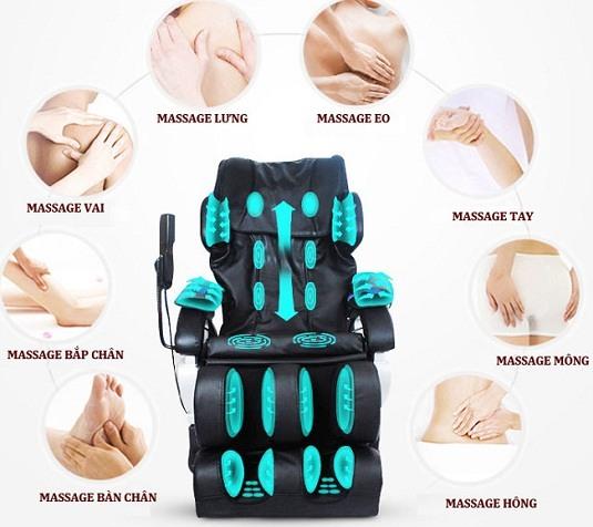 Ghế massage trị đau lưng nhức mỏi
