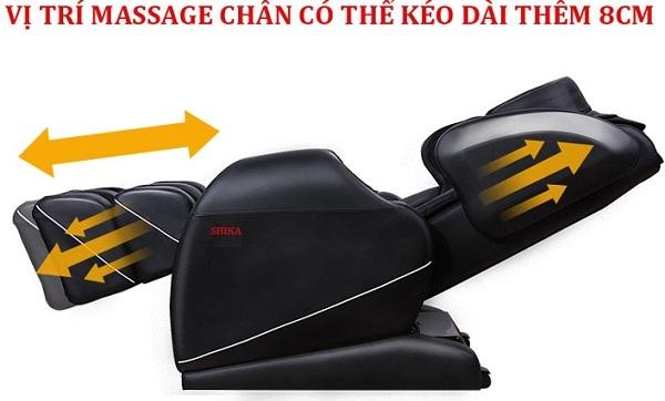 Ghế nằm massage Shika êm mềm