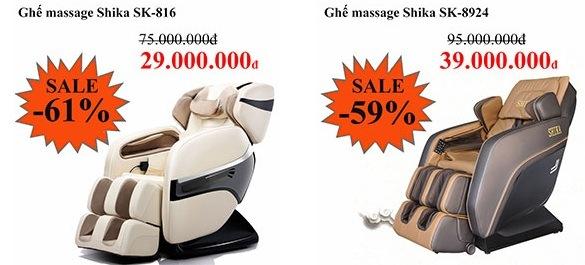 Ghế massage Shika giá thật rẻ thật ưu đãi