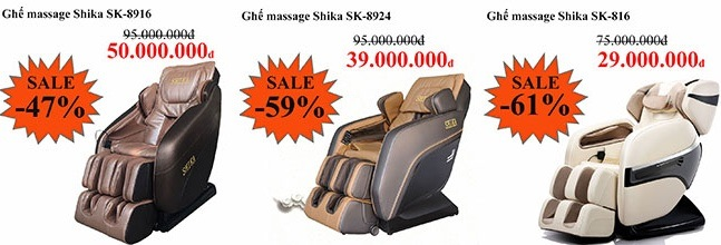 Nổi bật của ghế massage toàn thân Shika