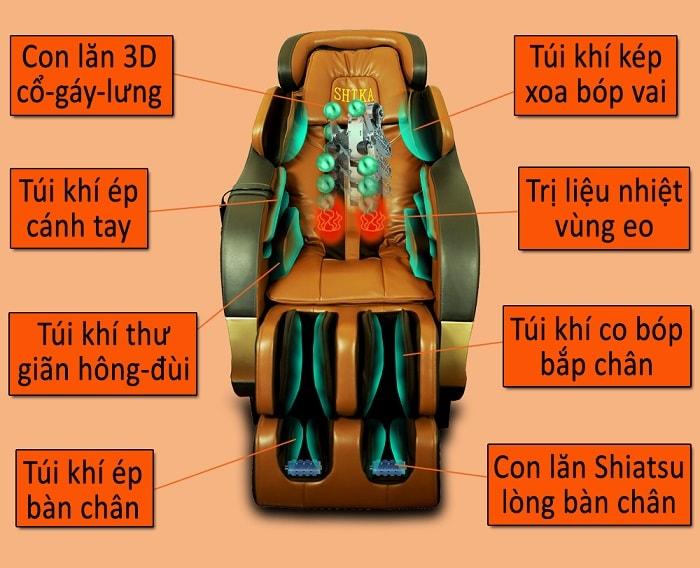 ghế massage 3d shika sk8904