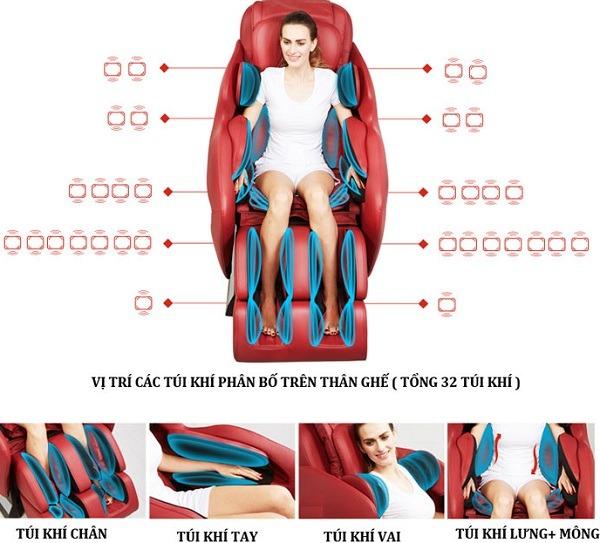 Ghế massage giảm đau hết mệt cho sức khỏe tốt hơn