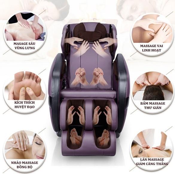 Ghế matxa giúp giảm đau lưng cho mọi người