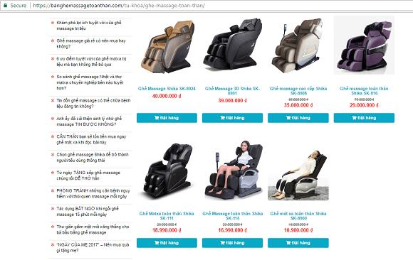 Địa chỉ bán ghế massage giá rẻ sốc