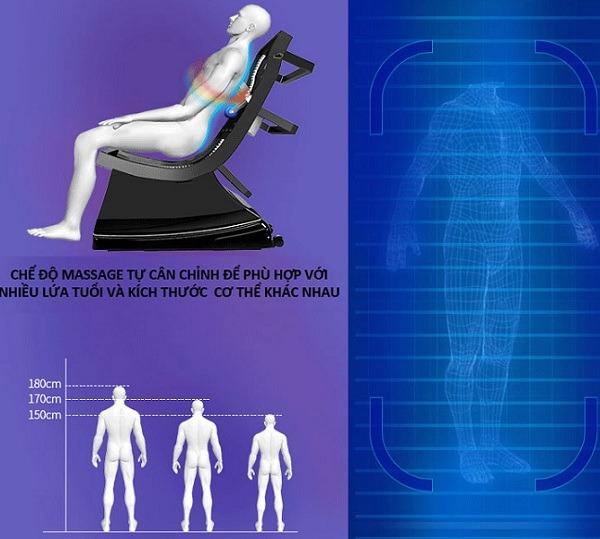 Ghế massage Shika đẩy lùi đau lưng nhức mỏi