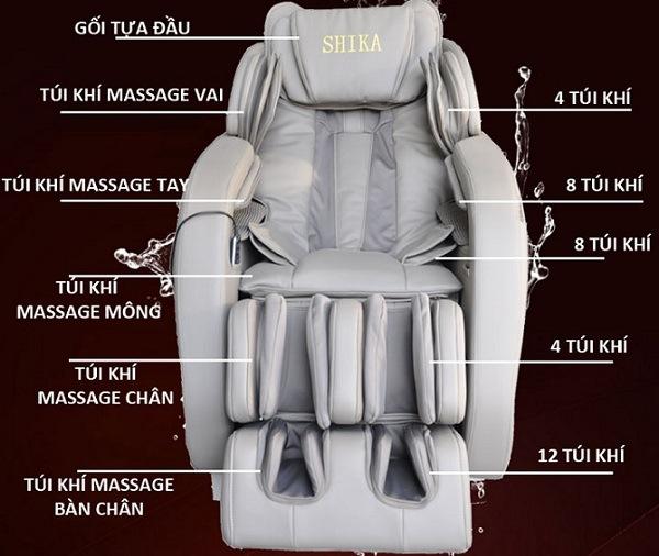Ghế massage bằng túi khí cho người già