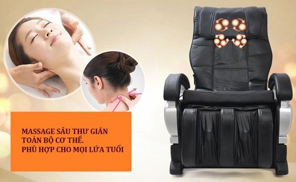 Ghế massage Shika giảm đau mỏi vai gáy hiệu quả