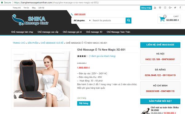 máy matxa lưng cho người già rất rẻ