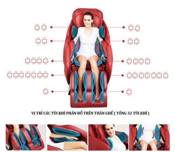 Ghế massage toàn thân điều trị xương khớp hiệu quả nhất