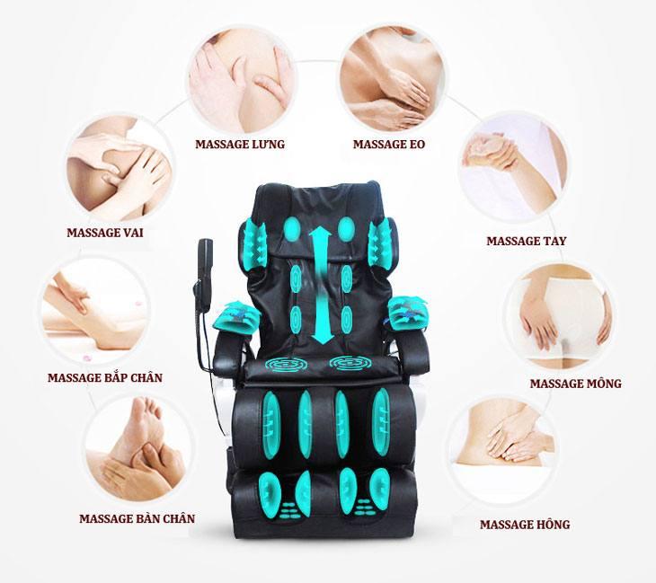 Tác dụng ghế massage toàn thân 2017