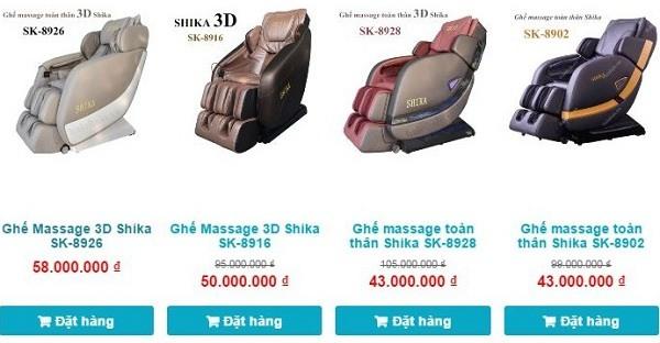 GHẾ MASSAGE 3D SHIKA MÁT XA TOÀN THÂN