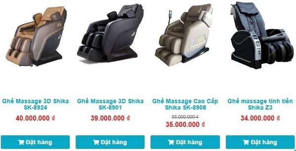 Ghế massage toàn thân Shika các dòng cao cấp