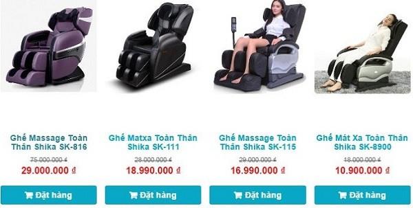 Ghế massage Shika giá cực rẻ