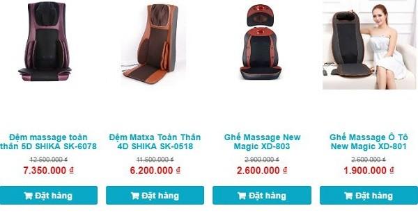 Ghế massage lưng shika êm rẻ lại tốt