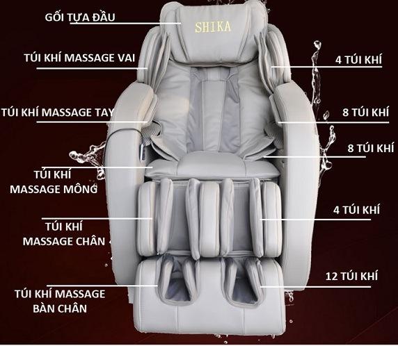 Tính năng massage bằng túi khí trong ghế massage