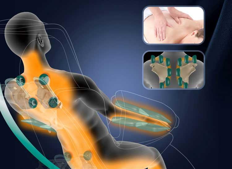 công dụng ghế massage toàn thân trị liệu cột sống
