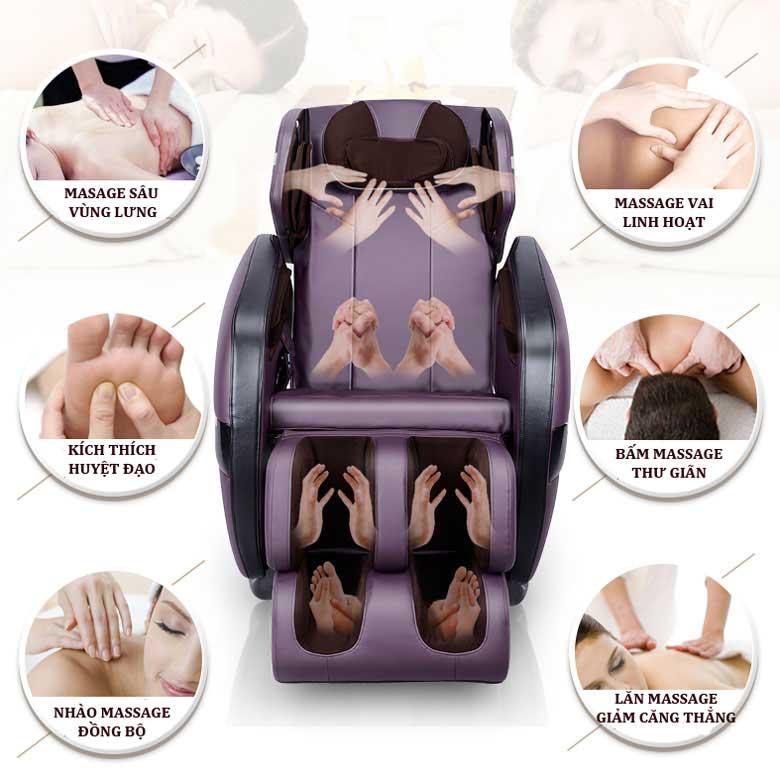 công dụng ghế massage toàn thân