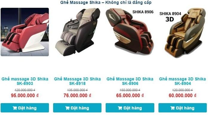 Ghế massage giá rẻ Shika