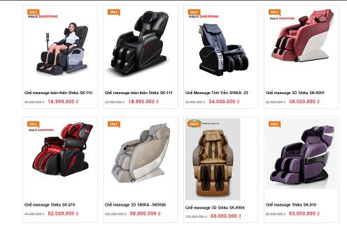 Tại Masssage Chair có thanh lý ghế massage trưng bày không?