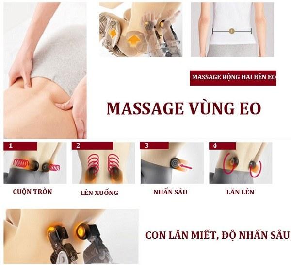 Ghế massage Shika mát xa vùng eo săn chắc