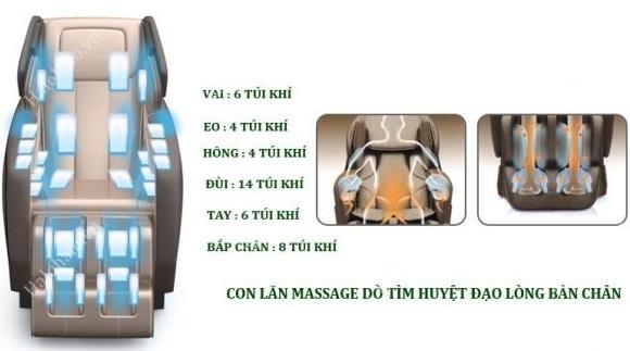 Ghế massage cao cấp – đầy đủ chức năng hiện đại