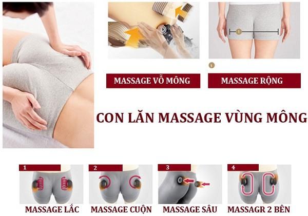 Ghế massage shika mát xa vùng mông tuyệt hảo