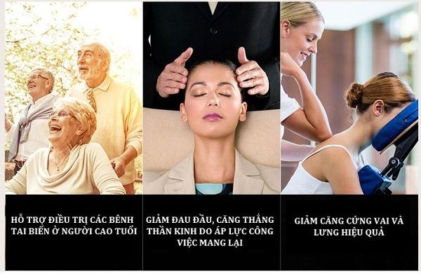 Ghế massage shika xoa bóp giảm đau chăm sóc sức khỏe