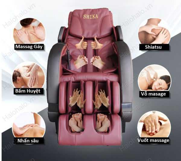 Một số công dụng của ghế massage Shika
