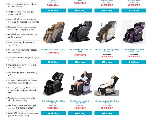 Nơi bán ghế massage giá rẻ chất lượng Nhật Bản
