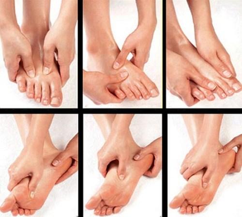 Bấm huyệt lòng bàn chân mu bàn chân cực tốt