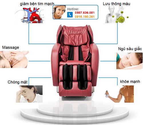 Ghế mát xa thư giãn có thể massage toàn bộ cơ thể