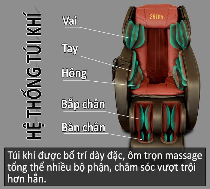 ghế massage toàn thân 3d shika sk8918 đỏ