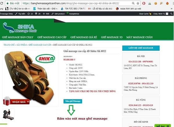 Cách mua ghế massage online